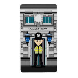 警官および警察署のステッカー ラベル