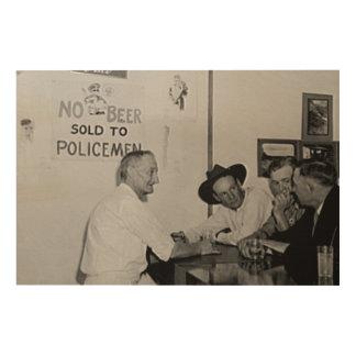 警官に販売されるビール無し。 禁止。 アメリカ ウッドウォールアート