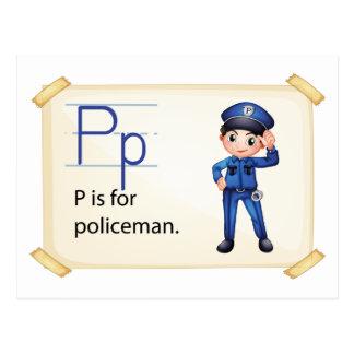 警官のための手紙P ポストカード