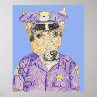 警官のエリマキシギ ポスター