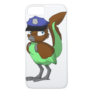 警官のチョコレートまたはミントのReptilianの鳥 iPhone 7ケース