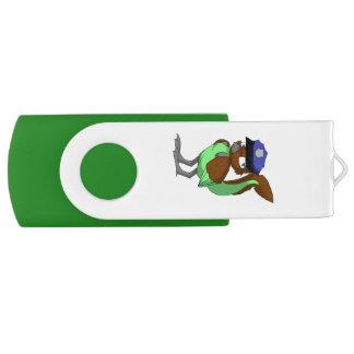 警官のチョコレートまたはミントのReptilianの鳥 USBフラッシュドライブ