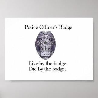 警官のバッジポスター ポスター