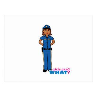 警官の女性 ポストカード