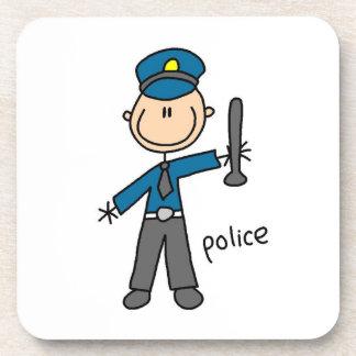 警官の棒の姿 コースター
