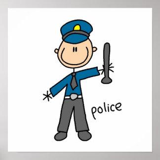 警官の棒の姿 ポスター