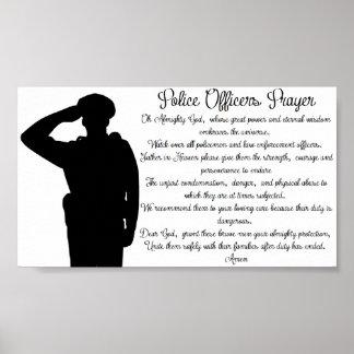 警官の祈りの言葉 ポスター