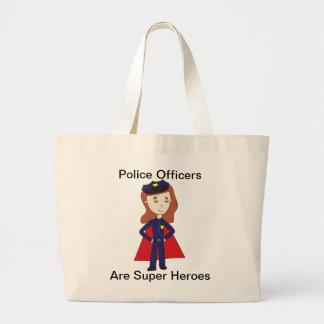 警官の英雄(メス) ラージトートバッグ