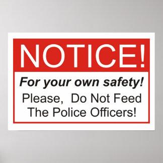 警官を食べ物を与えないで下さい! ポスター