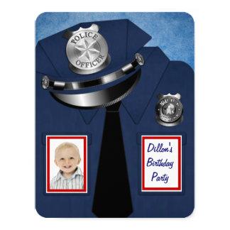 警官誕生会 カード