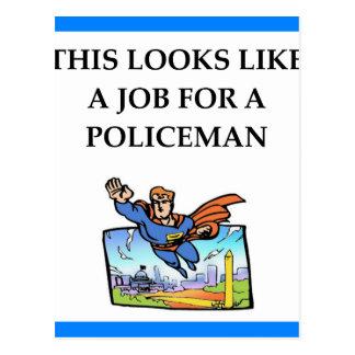 警官 ポストカード