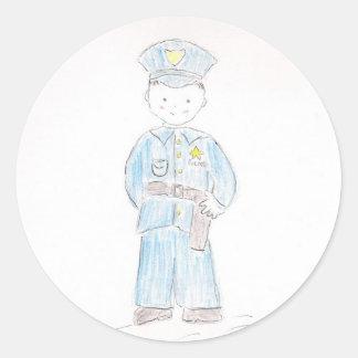 警官 ラウンドシール
