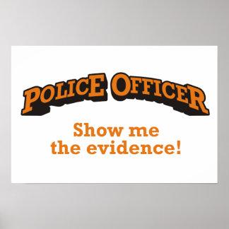 警官-私に証拠を示して下さい! ポスター