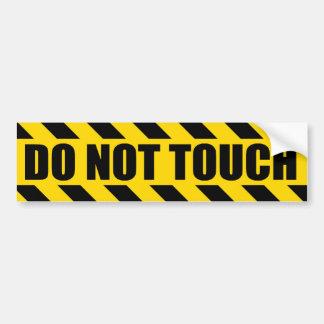 警察に危険にさらします黒い黄色のストライプを触れないで下さい バンパーステッカー