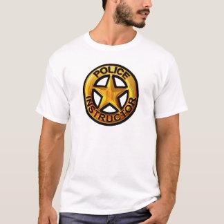 警察のインストラクターのバッジ Tシャツ