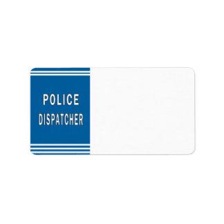 警察のディスパッチャー ラベル