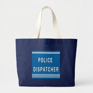 警察のディスパッチャー ラージトートバッグ