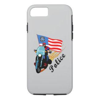 警察のバイクもしくは自転車に乗る人 iPhone 8/7ケース