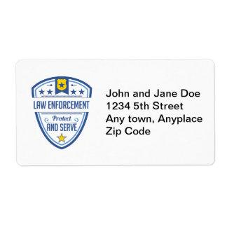 警察のバッジを保護し、役立って下さい ラベル