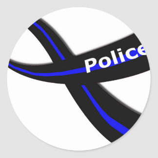 警察のリボン ラウンドシール