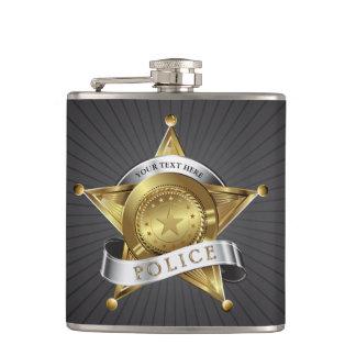 警察の保証バッジのフラスコ フラスク