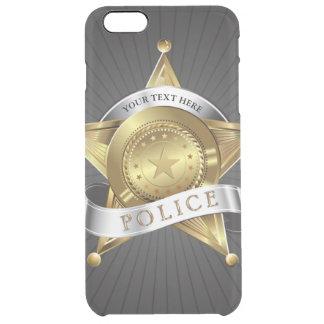 警察の保証バッジ クリア iPhone 6 PLUSケース
