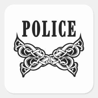 警察の入れ墨および名前入りなギフト スクエアシール