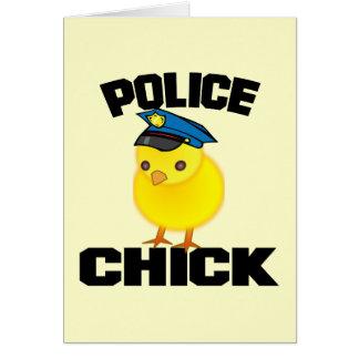 警察の女性 カード