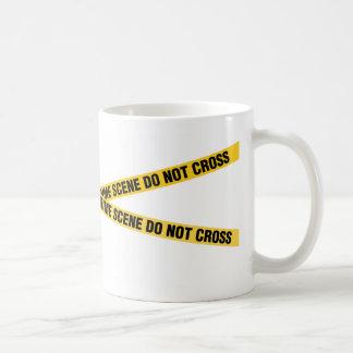 警察の犯罪現場のコーヒー・マグ2 コーヒーマグカップ