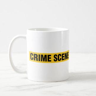 警察の犯罪現場のコーヒー・マグ コーヒーマグカップ