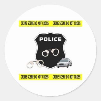 警察の犯罪現場 ラウンドシール