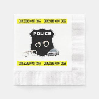 警察の犯罪現場 縁ありカクテルナプキン