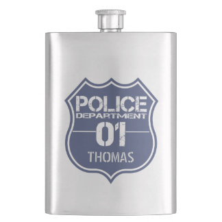 警察の盾01を-あらゆる名前個人化して下さい フラスク