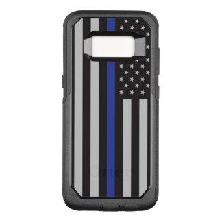 警察の薄いブルーラインアメリカ人を支えて下さい オッターボックスコミューターSamsung GALAXY S8 ケース