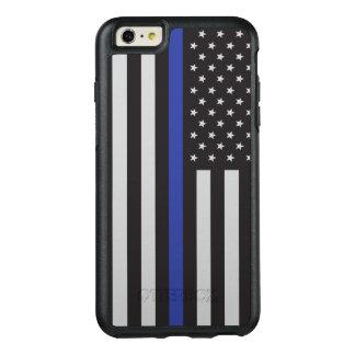 警察の薄いブルーラインアメリカ人を支えて下さい オッターボックスiPhone 6/6S PLUSケース