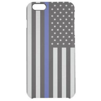 警察の薄いブルーラインアメリカ人を支えて下さい クリア iPhone 6 PLUSケース