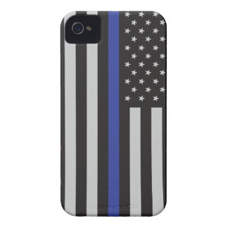 警察の薄いブルーラインアメリカ人を支えて下さい Case-Mate iPhone 4 ケース