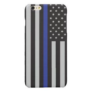 警察の薄いブルーライン米国旗を支えて下さい