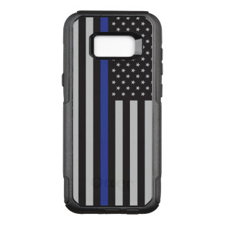 警察の薄いブルーライン米国旗を支えて下さい オッターボックスコミューターSamsung GALAXY S8+ ケース