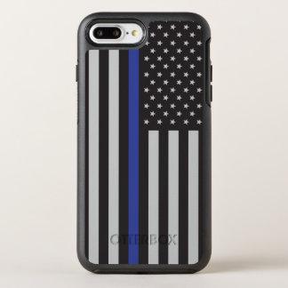 警察の薄いブルーライン米国旗を支えて下さい オッターボックスシンメトリーiPhone 8 PLUS/7 PLUSケース