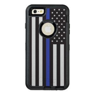 警察の薄いブルーライン米国旗を支えて下さい オッターボックスディフェンダーiPhoneケース