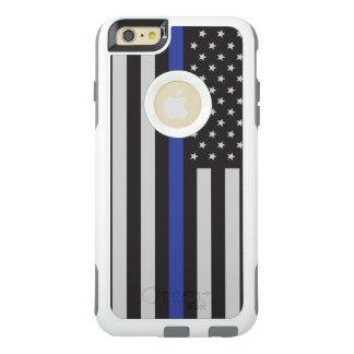 警察の薄いブルーライン米国旗を支えて下さい オッターボックスiPhone 6/6S PLUSケース