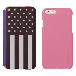 警察の薄いブルーライン米国旗を支えて下さい INCIPIO WATSON™ iPhone 6 ウォレットケース