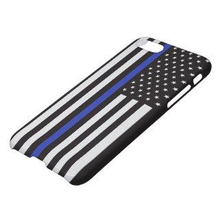警察の薄いブルーライン米国旗を支えて下さい iPhone 8/7 ケース