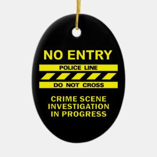 警察の警戒線オーナメントは、カスタマイズ セラミックオーナメント