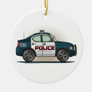 警察の障害物車の警察官車のオーナメント セラミックオーナメント