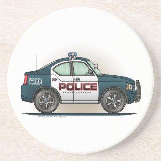 警察の障害物車の警察官車のコースター コースター
