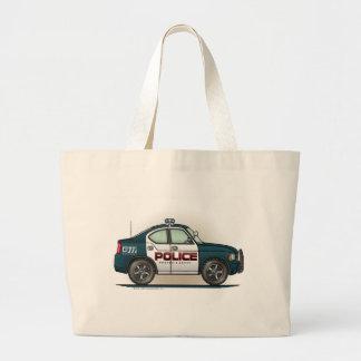 警察の障害物車の警察官車のトートバック ラージトートバッグ