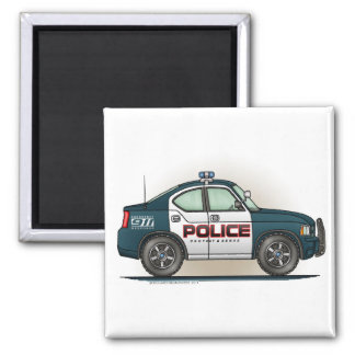 警察の障害物車の警察官車の正方形の磁石 マグネット