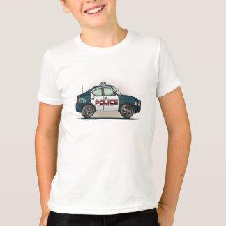 警察の障害物車の警察官車 Tシャツ
